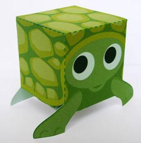 papierowy żółwik wycinanka
